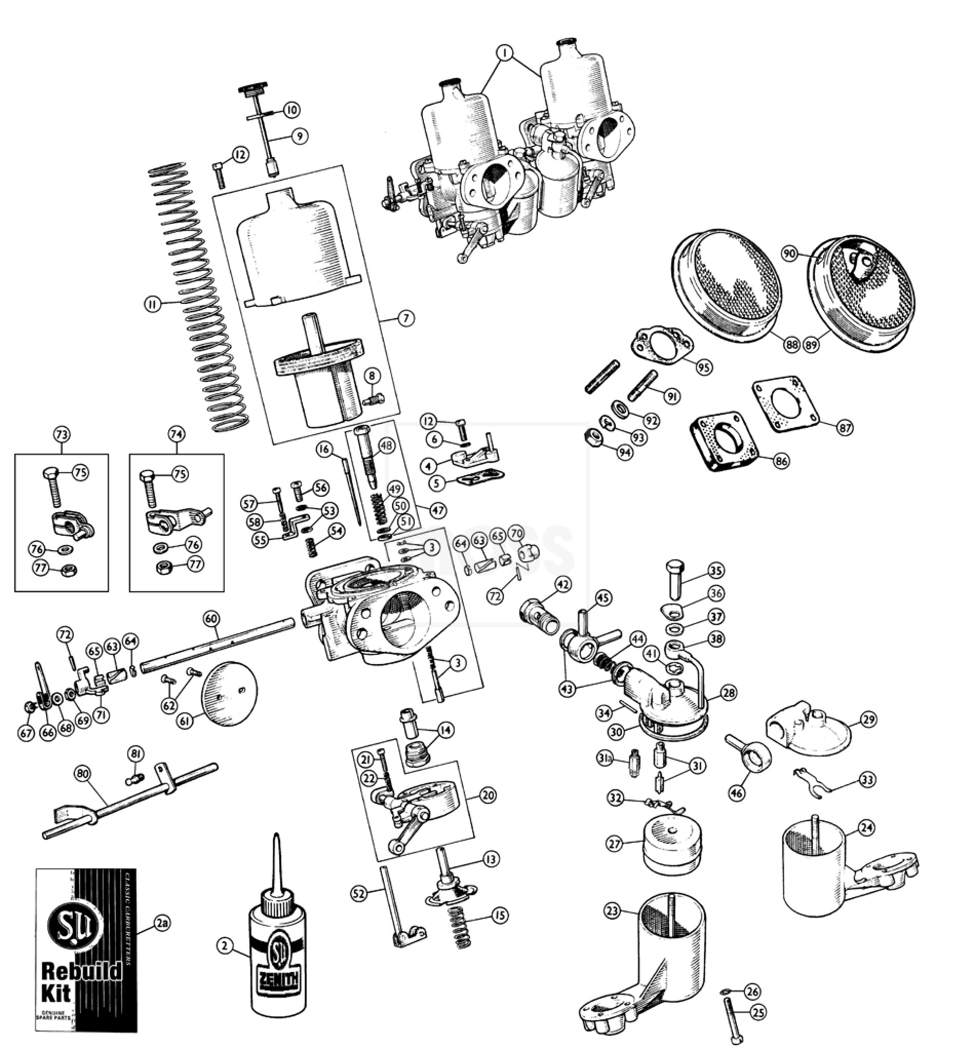 hd8 type carburettors  u0026 air filters