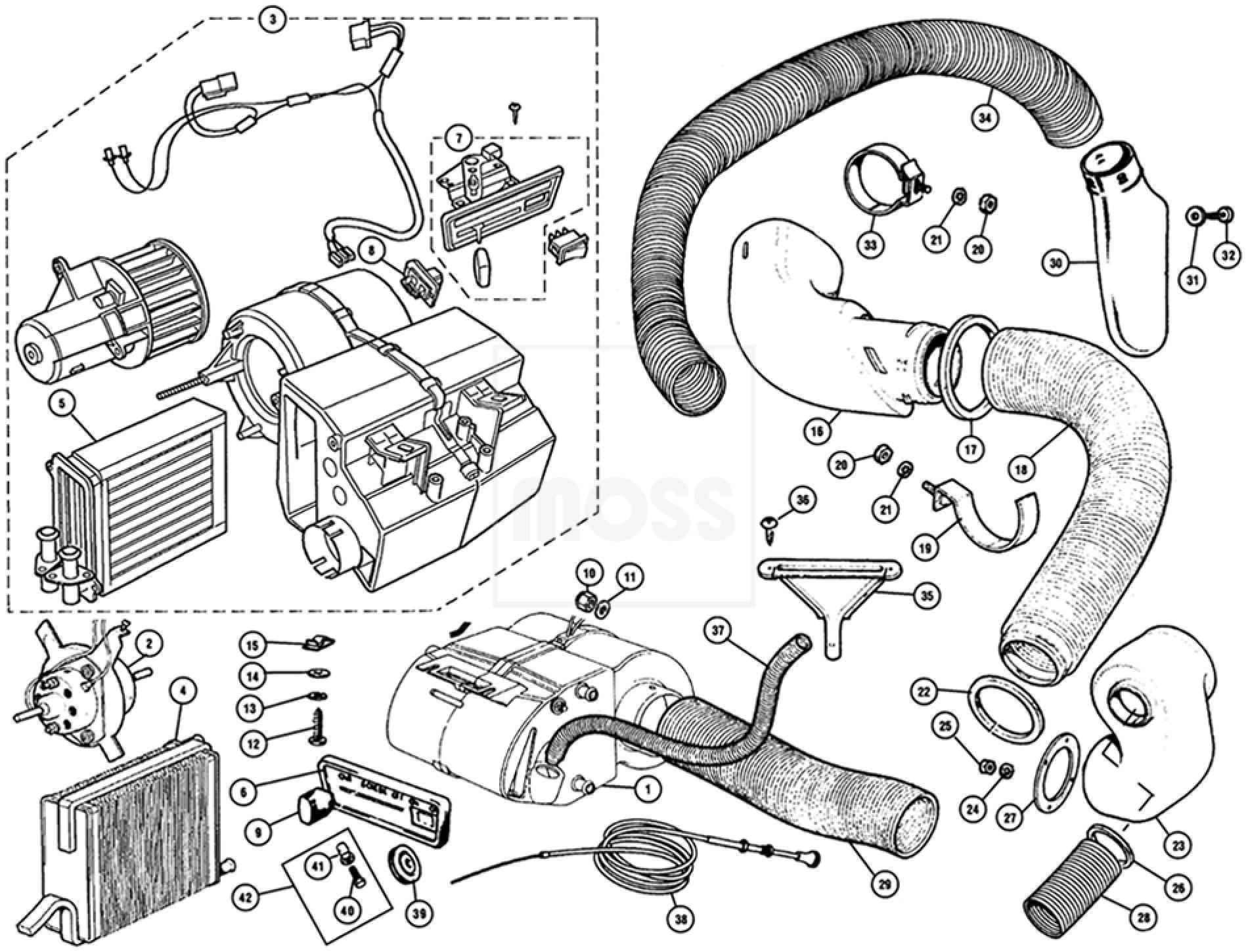 Heater Ducting Heater Unit Ducting Mini