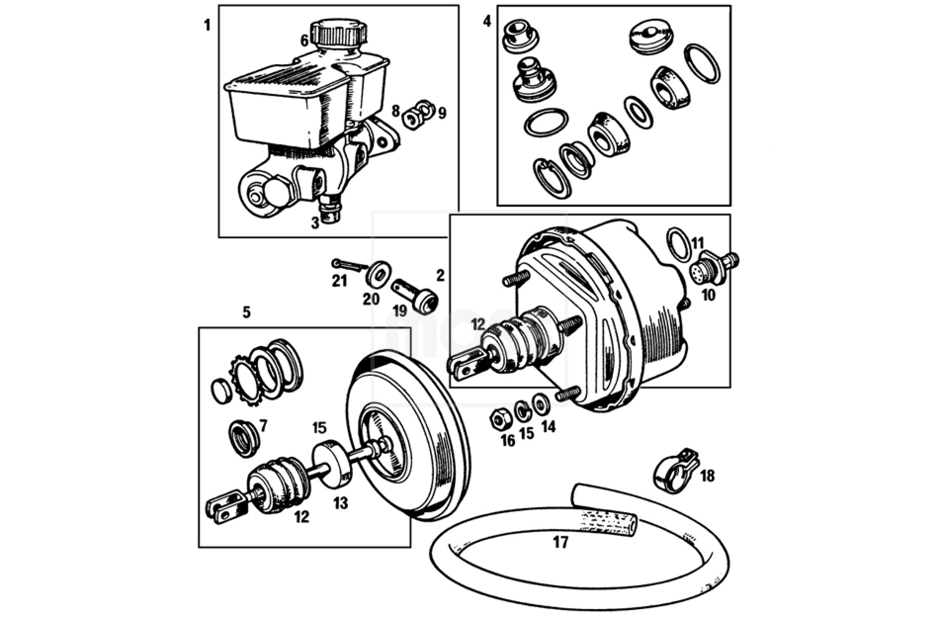 mgb brake master cylinder location