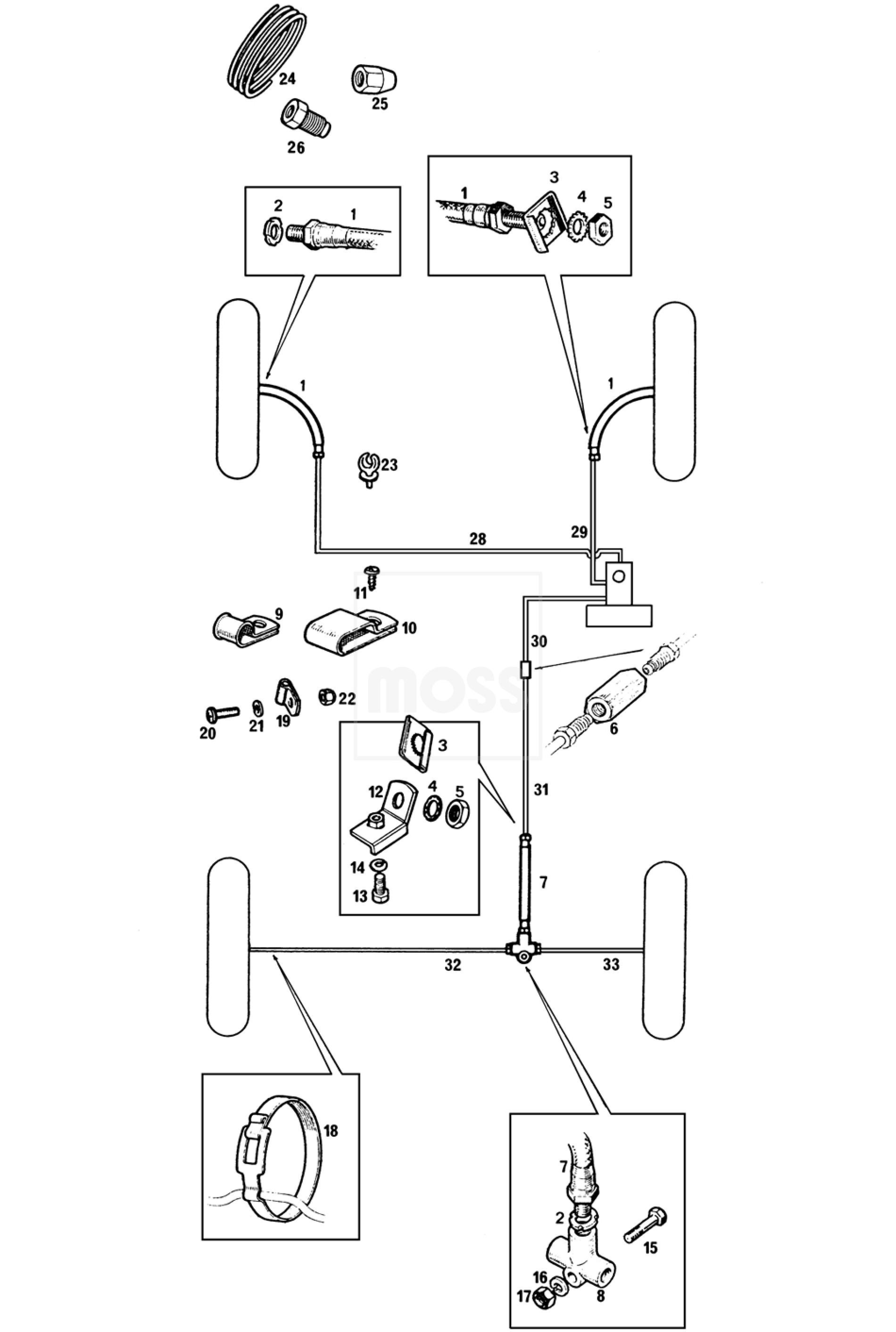 brake pipes  u0026 hoses  dual line system