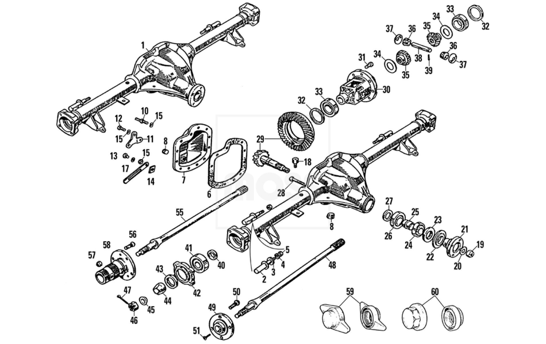 rear axle  tube type