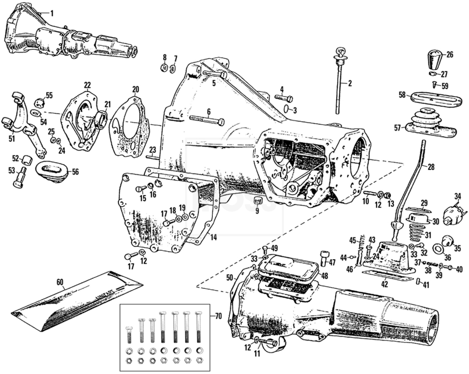 Mgb Transmission Diagram Opinions About Wiring Chevy 460 External Gearbox 3 Synchro Non Overdrive Mounts 5 Speed Conversion Kit