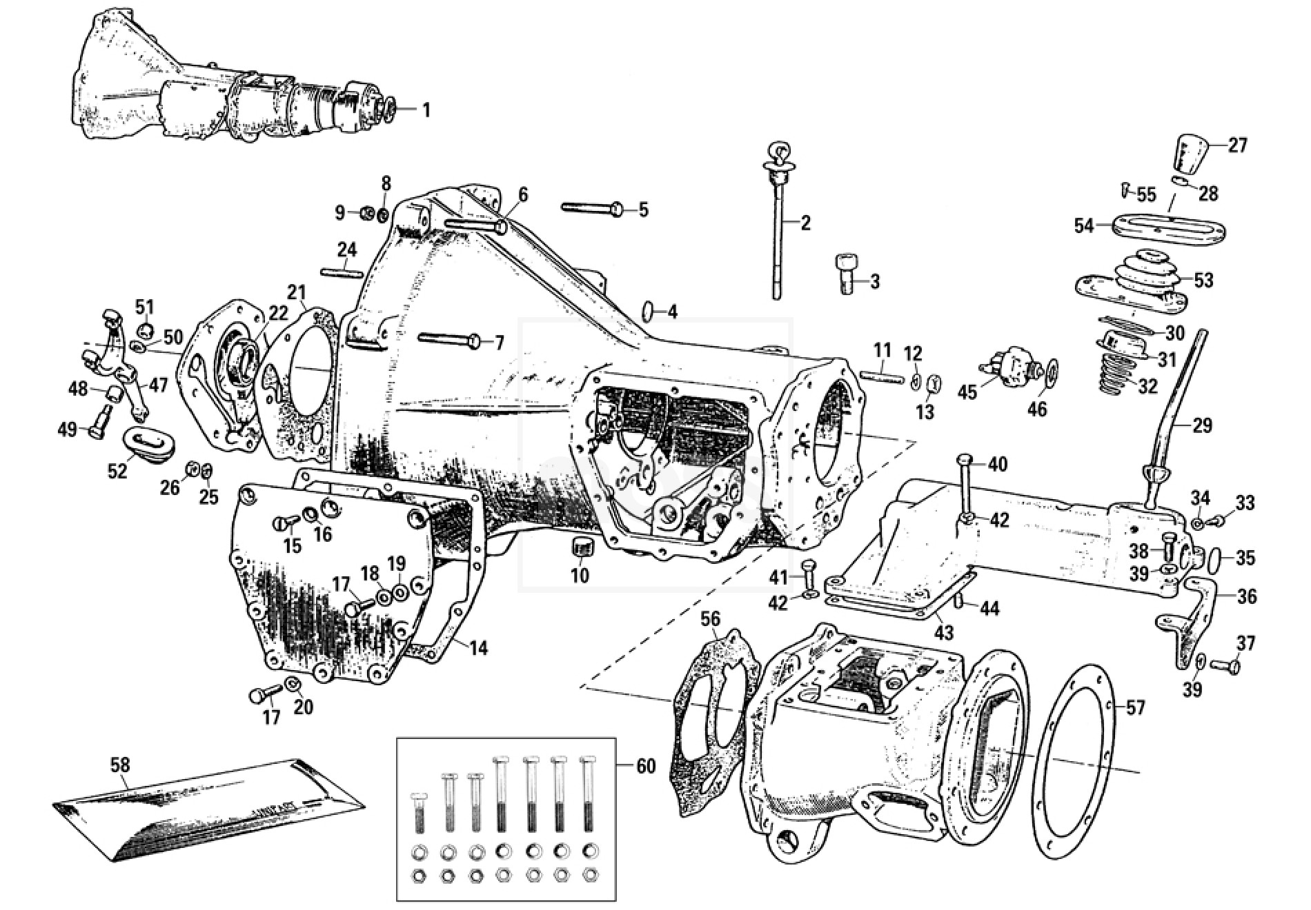 External Gearbox: 3 Synchro, Overdrive - MGB