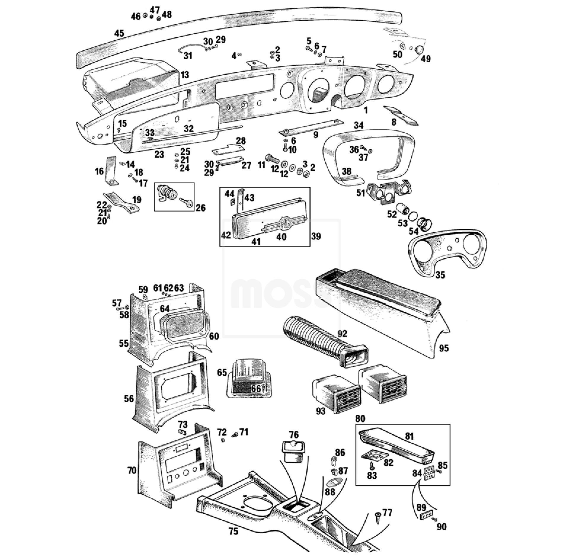 Dashboard  U0026 Console Panels  Mgb 1962
