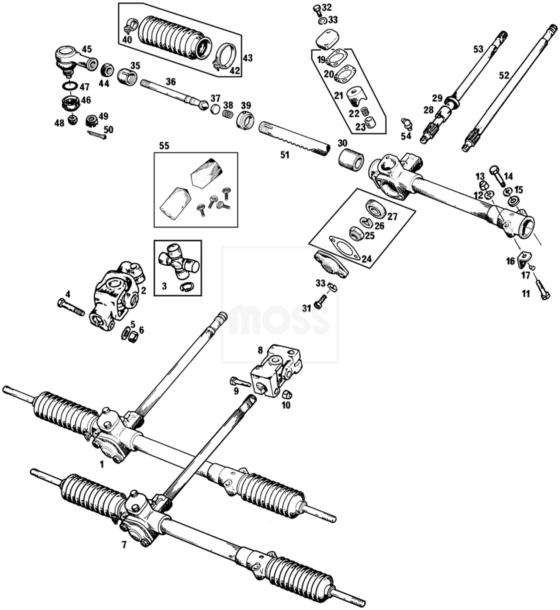 steering racks  u0026 fittings
