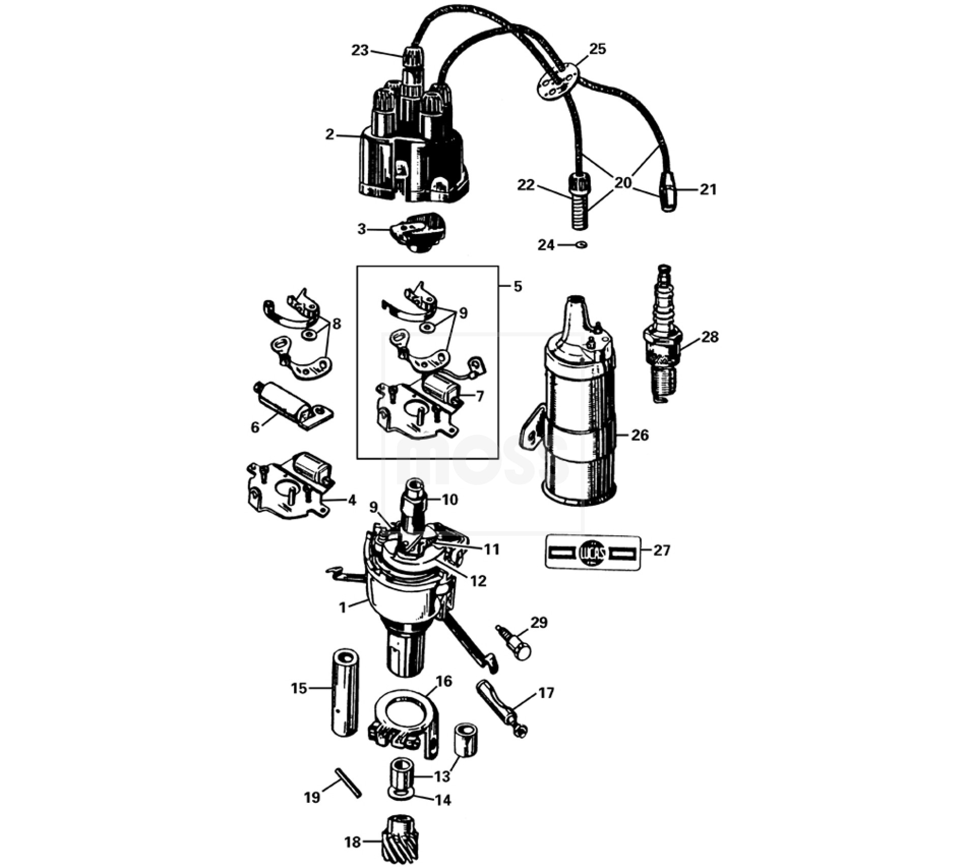 ignition system - t type - ignition system - electrical - t type - mg