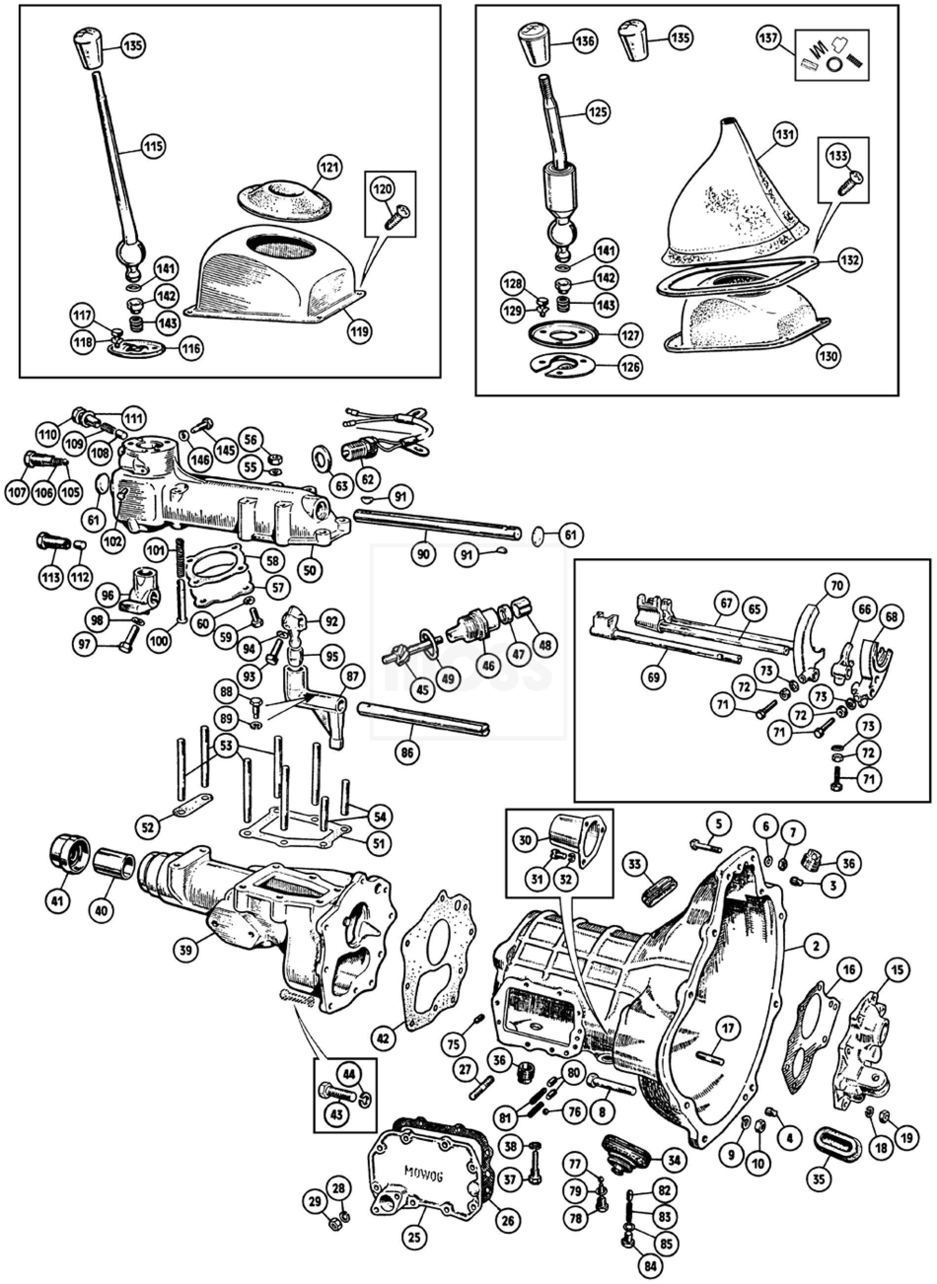external gearbox  sprite  u0026 midget 1275cc