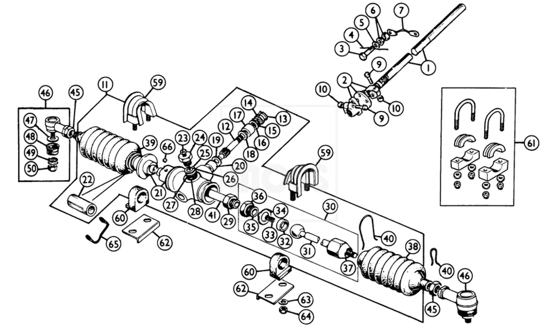 steering rack  u0026 lower column