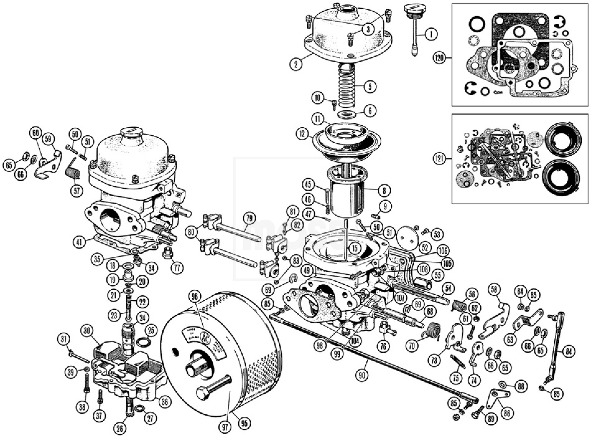 Carburettors & Air Cleaners: 175CD Zenith-Stromberg - TR2-4A