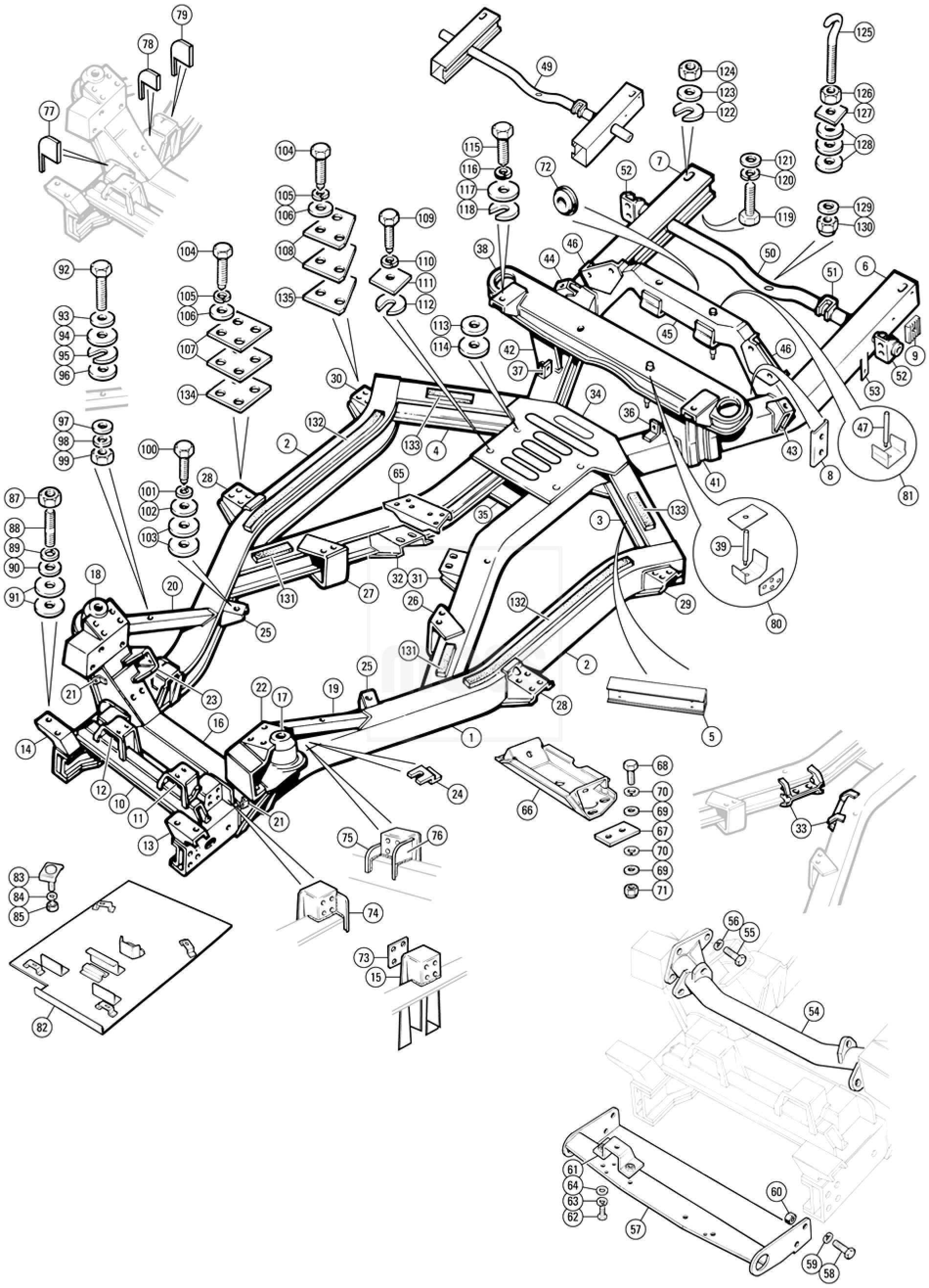 Chassis Frame - TR5-6