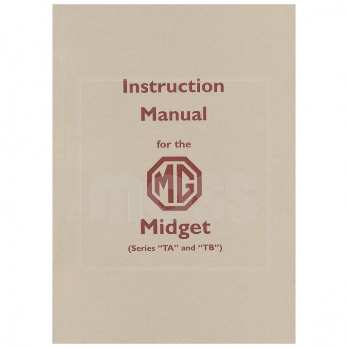 Instruction Manual, TA/TB