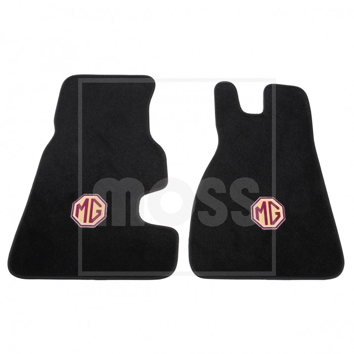 Plush Embroidered Footwell Mats