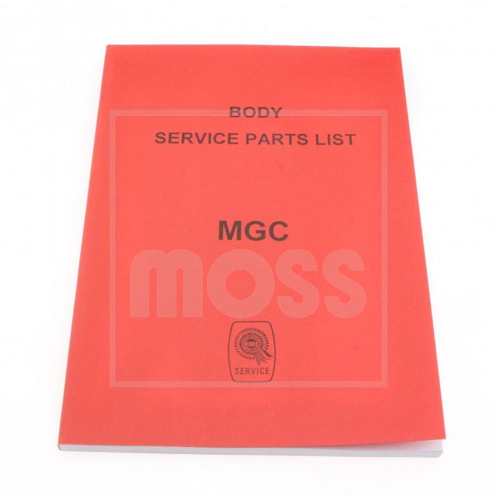 Parts Catalogue, body, Factory
