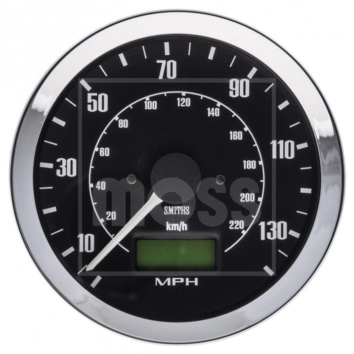 Gauge, speedo, electronic, 140MPH, black