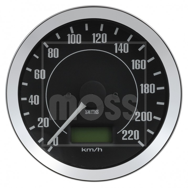 Gauge, speedo, electronic, 0-240kph, 100mm