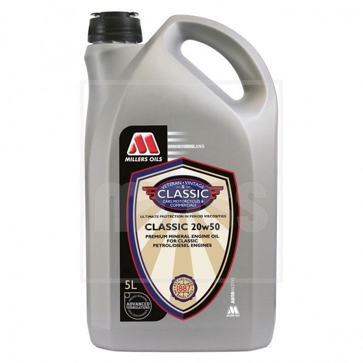Millers Classic 20w 50 Engine Oil