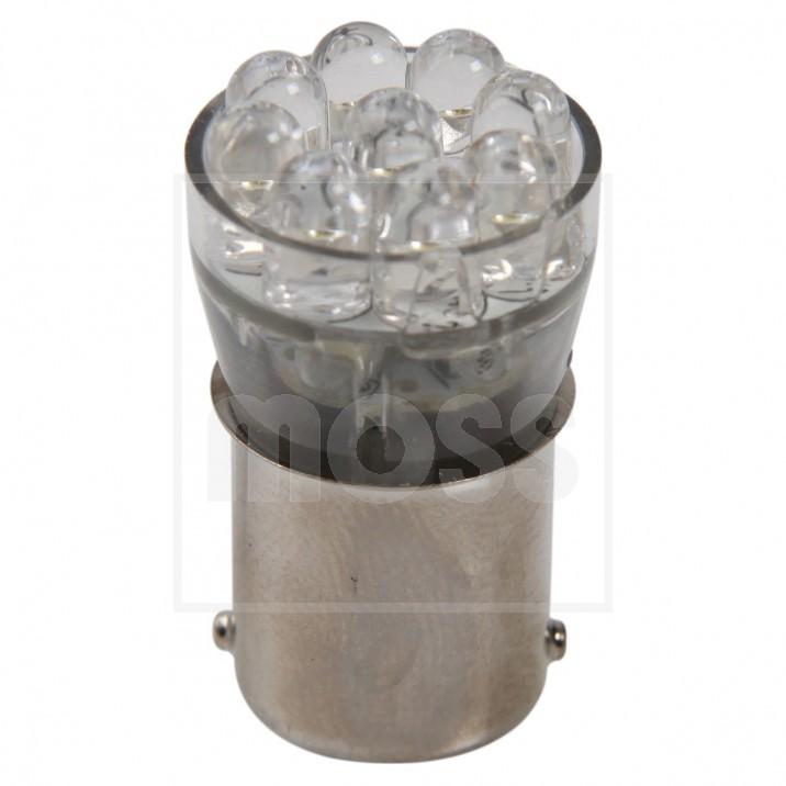 LED Bulb, BA15s bayonet, 12V, 5W, amber