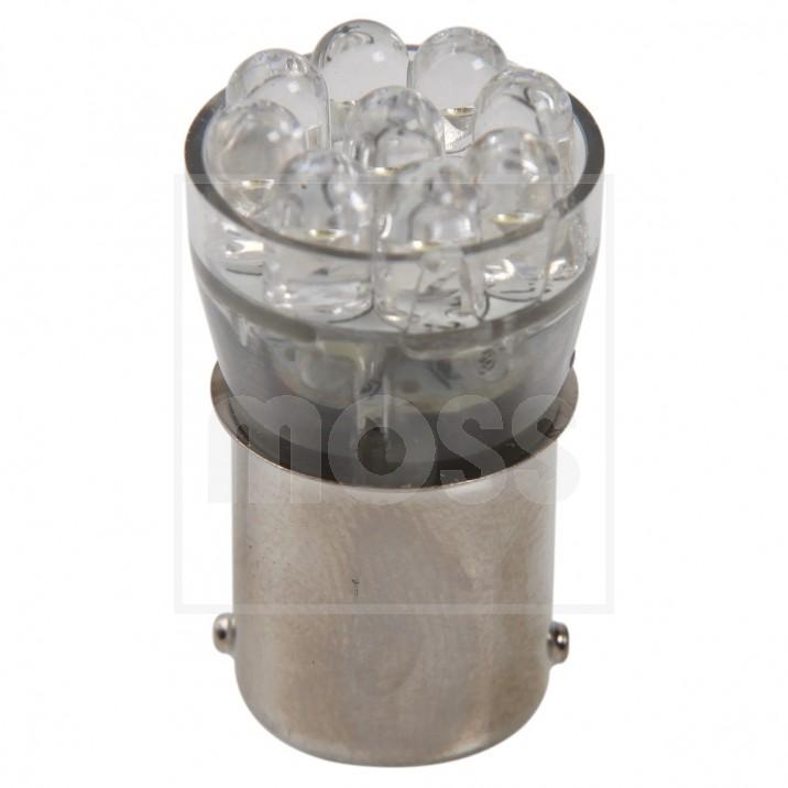 LED Bulb, BA15s bayonet, 12V, 5W, red