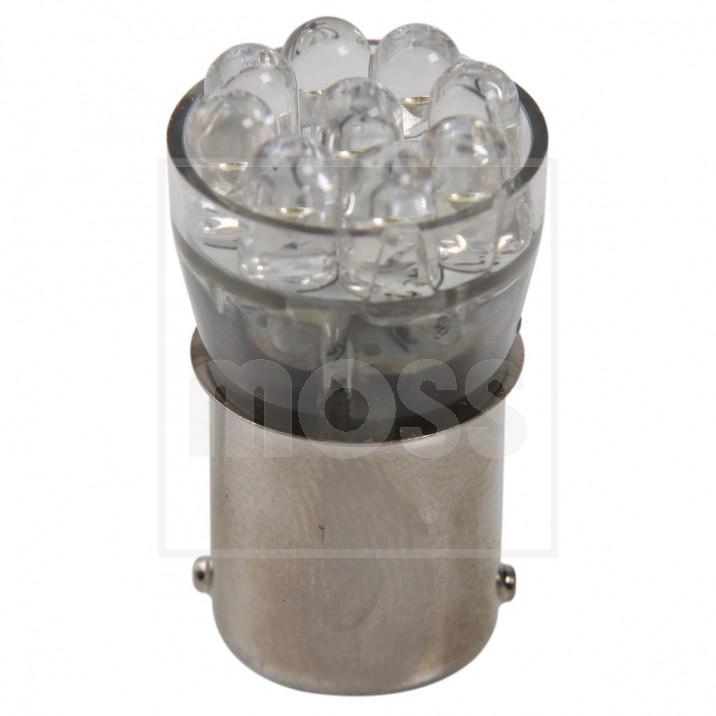 LED Bulb, BA15s bayonet, 12V, 5W, white