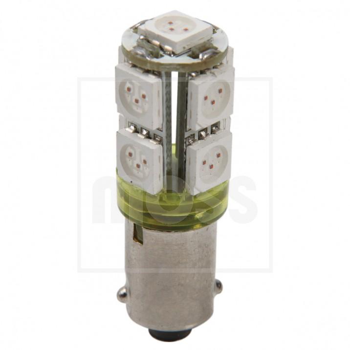 LED Bulb, BA9s bayonet, 12V, 5W, amber