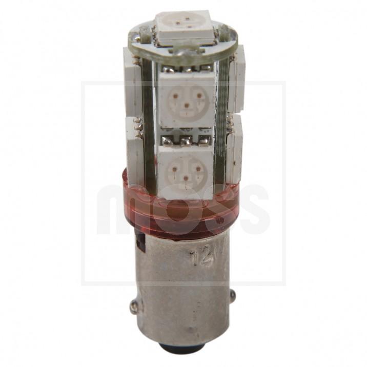 LED Bulb, BA9s bayonet, 12V, 5W, red