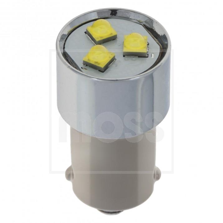 LED Bulb, BA9s bayonet, 12V, 5W, white