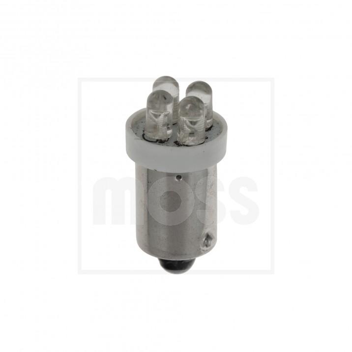 LED Bulb, BA9s bayonet, 12V, 4W, white