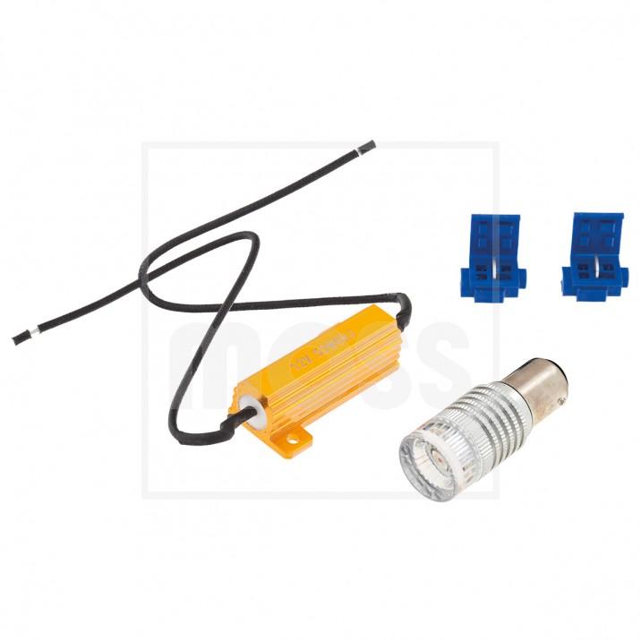 LED Bulb Kit, BA15d bayonet, 12V, 21/5W, amber