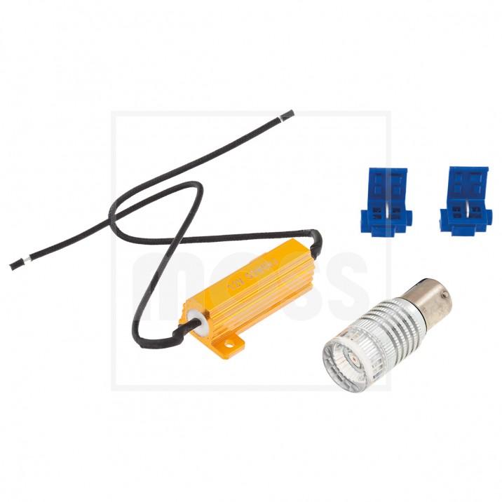 LED Bulb Kit, BA15s bayonet, 12V, 21W, amber
