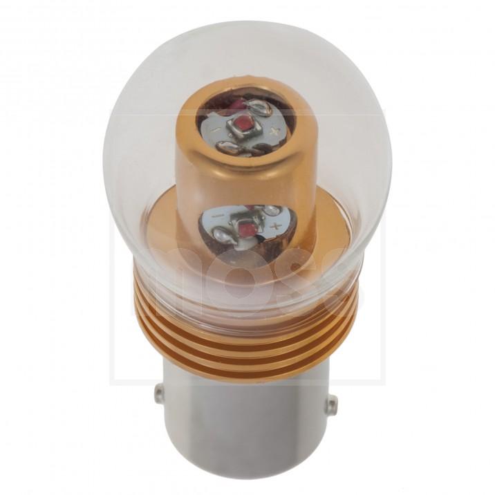 LED Bulb, BA15s bayonet, 12V, 21W, amber