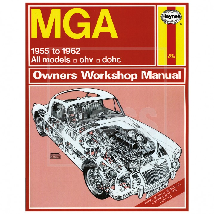Haynes Workshop Manual, MGA