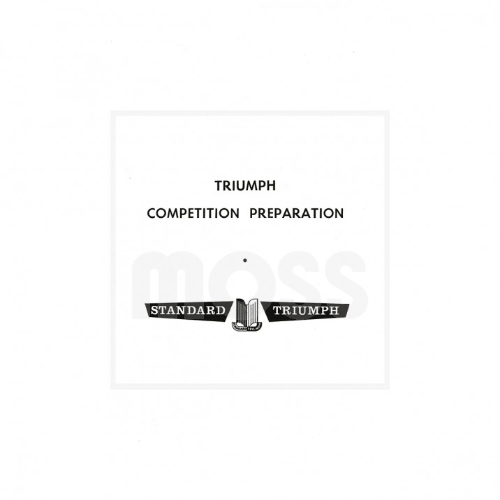 Competition Preparation Manual, TR2-3A