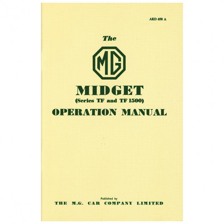 Owners Handbook, MG TF