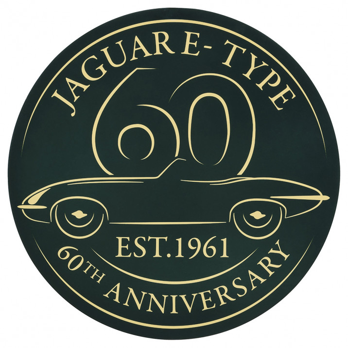 Sticker, 4 Inch, double sided, E-Type 60th anniversary