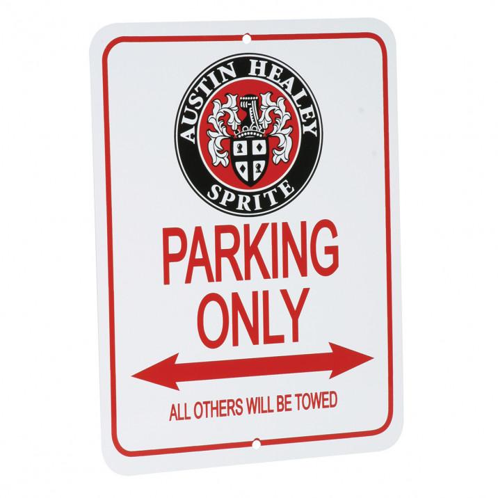 Parking Sign, Austin-Healey Sprite, round logo