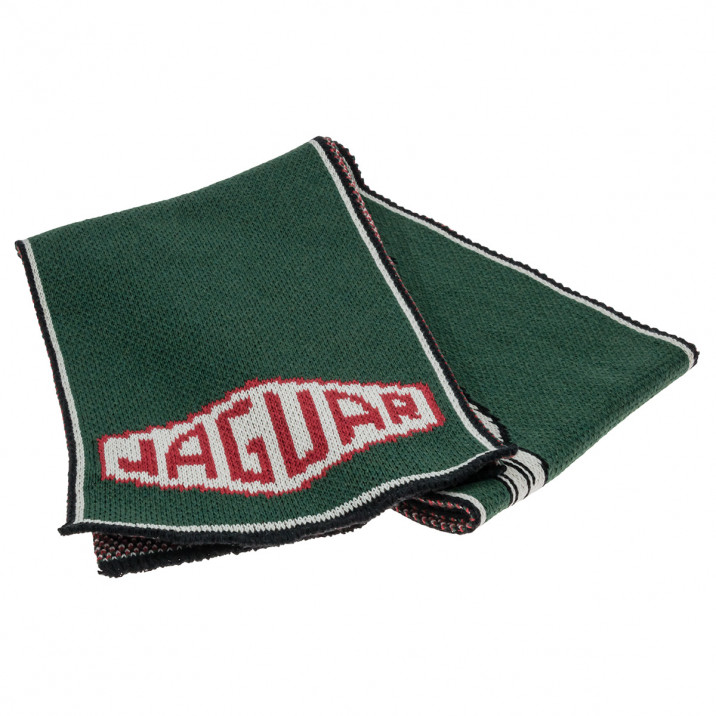 Scarf, Jaguar logo, knitted