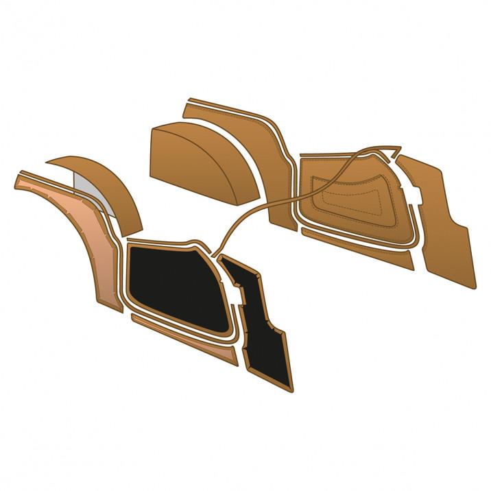 Trim Kit, leather panel & vinyl trim, biscuit