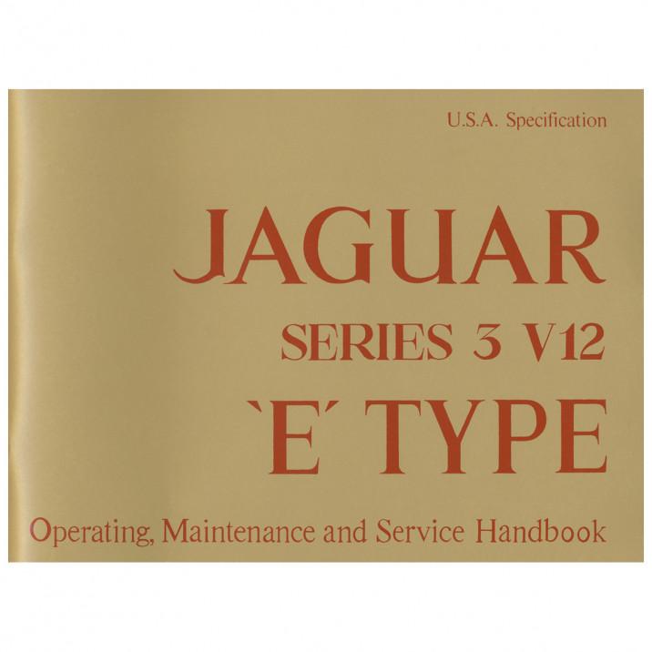 Owners Manual, E-Type [Series III]