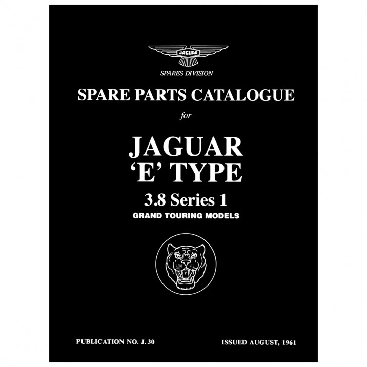 Parts Manual, Deluxe Edition, E-Type 3.8