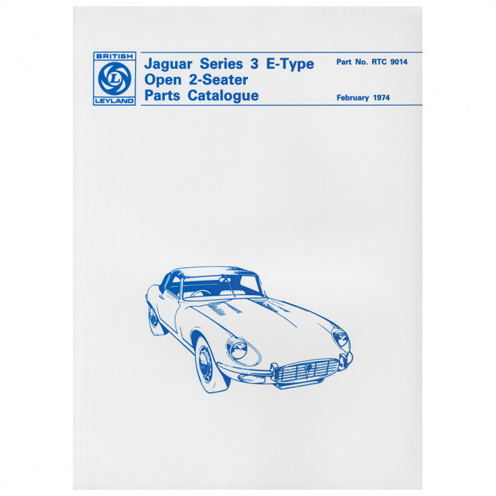 Parts Manual, Deluxe Edition, E-Type [Series III] 2+2