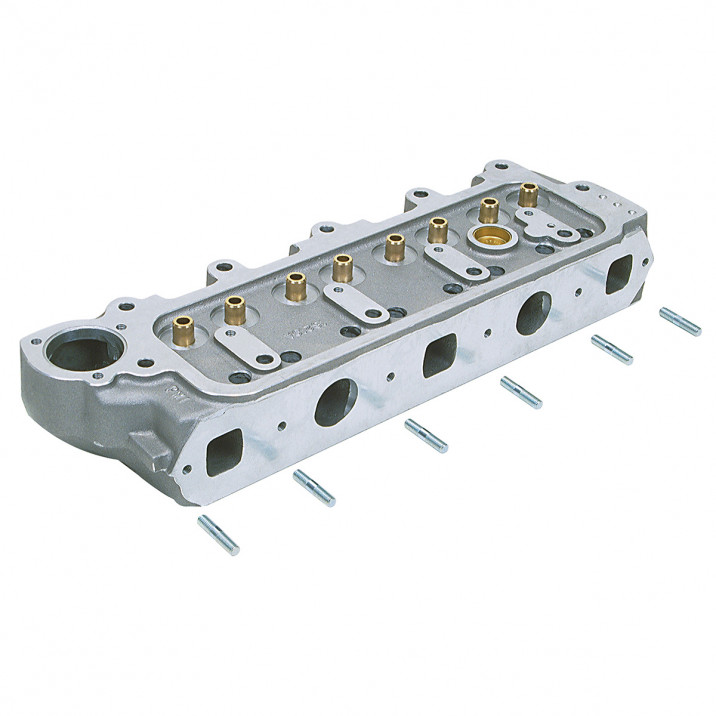 Cylinder Head, bare, 5 port, in-line oil feed, aluminium