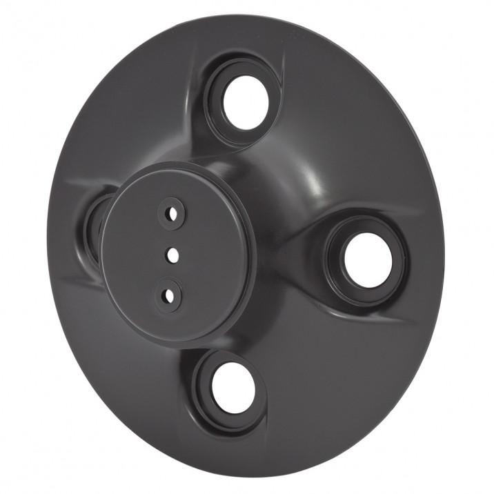 Hub Cap, plastic, black