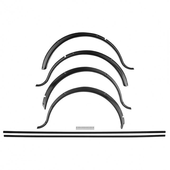 Wheel Arch Set, black, plastic