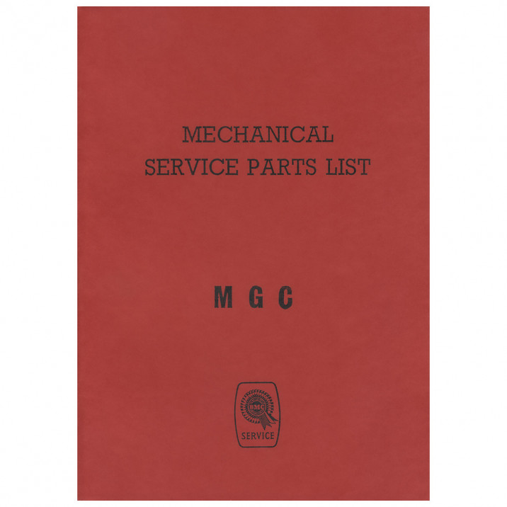 Parts Catalogue, mechanical, Factory