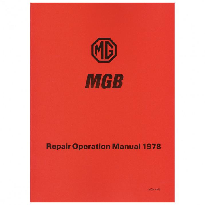 Workshop Manual, MGB 1977-On