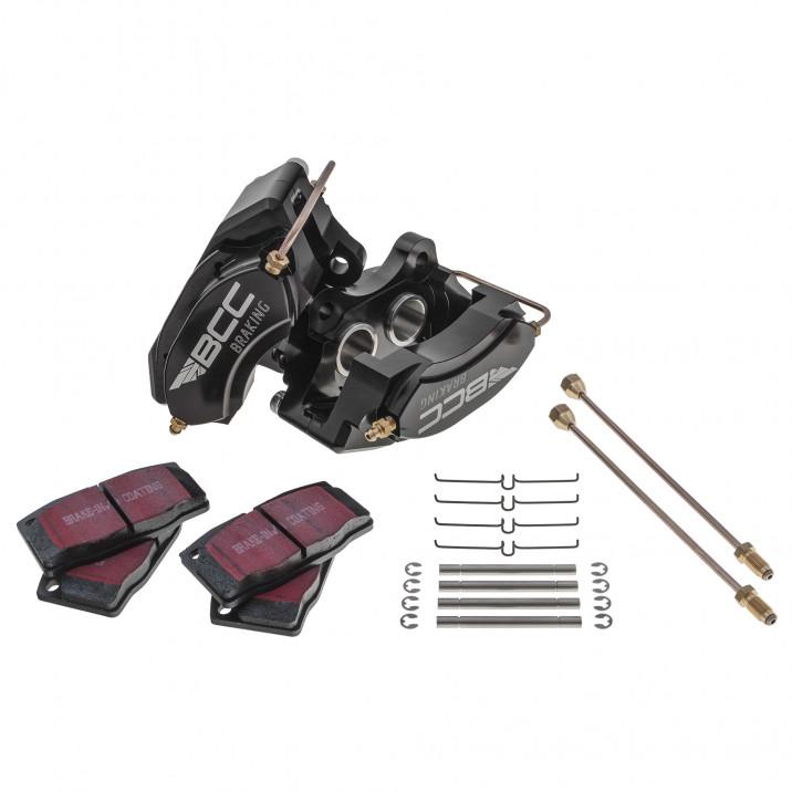 Brake Caliper Set, BCC, front, black, pair
