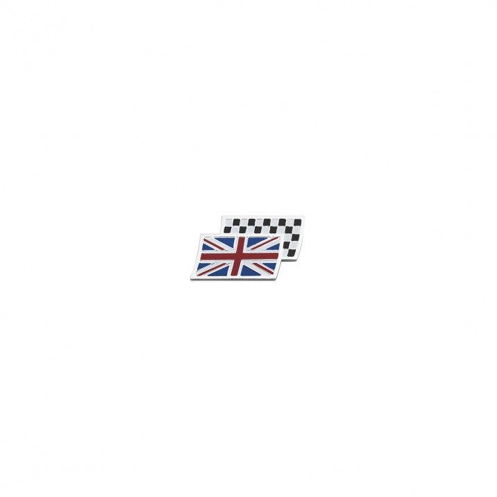 Badge, Union Jack/Chequered Flag, small