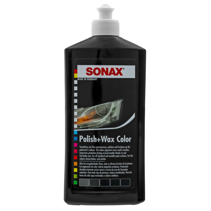 Sonax Colour Polish & Wax Black 500ml