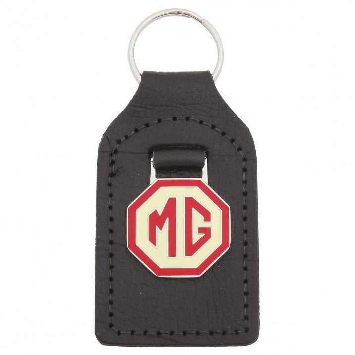 Key Fob, MG, red & cream
