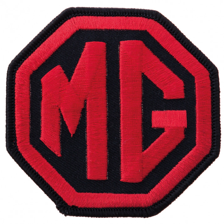 Patch, MG, sew-on, red/black